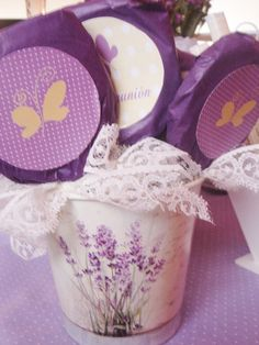 Butterfly treats at a Communion Party!  See more party ideas at CatchMyParty.com!  #communion #partyideas