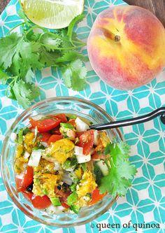 Grilled Peach Salsa | Gluten-free