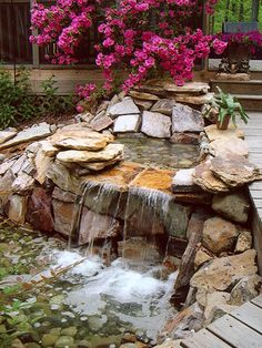 An Outdoor Oasis, Waterfall Detail - love this look