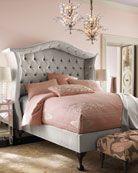 headboard, bed frames, color, haut hous, queen, silver peekaboo, bedside tables, pink bedrooms, hous silver