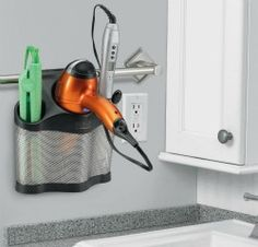 Oh yes! Finally a way to keep your styling products handy but off the bathroom sink! {featured on Home Storage Solutions 101}