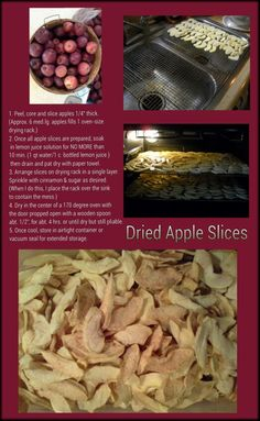Oven Dried Apple Slices Woohoo, use up leftover apples plus cheaper than buying dried fruit!