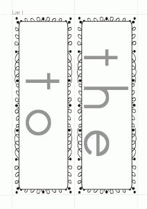 FREE sight word templates for the Dolch sight word lists 1-3.  Use these to make your own tactile sight words.