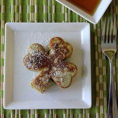 Spinach shamrock pancakes.
