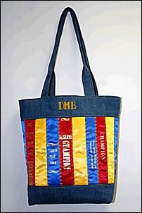 Make a tote bag out of your horse show ribbons.