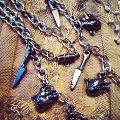 Hearts and Knives by gigideluxe on Etsy, $45.00