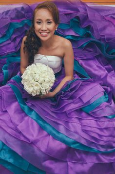 Yards and yards of purple skirt.... this dress is AMAZING.