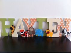 Jungle Wooden Letters Safari Nursery Letters by BabeeCakesBoutique, $12.00