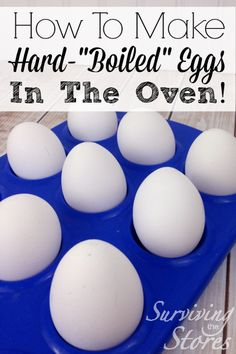 Want to make lots of eggs at one time?  No need to boil them!  This is BY FAR the easiest way to cook lots of eggs for dyeing or for deviled eggs!
