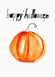 Margaret Berg Art: Happy Halloween Greeting Card