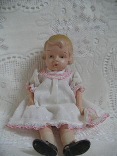 Bisque Doll Made in Occupied Japan...