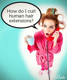 How to curl hair extensions