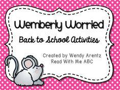 Wemberly Worried: Back to School Activities