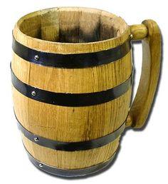 Oak Bourbon Barrel Mug - unique #groomsmen gift idea
