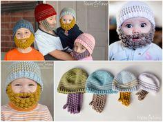 Wonderful DIY Lovely Crochet Bobble Beard Beanies