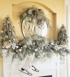 Create a Beautiful Snow Mantel