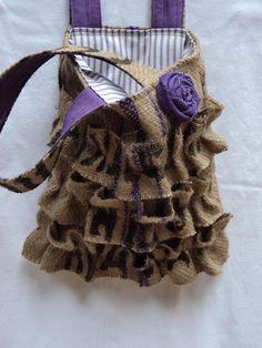 Coffee Bag Purse Coffee Sack Purse by theruffleddaisy on Etsy  Very cute.