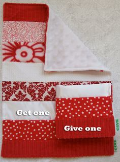 Baby Sensory Security Blanket Lovey -IU Hoosiers or Cinci Reds - Get One, Give One to babies in Kenya, Africa, $30.00