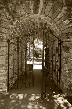 Gate at one of the Missions in San Antonio, Texas