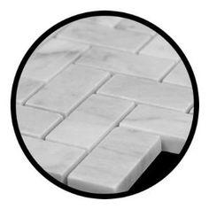 Carrara Marble Italian White Bianco Carrera Herringbone Mosaic Tile Polished