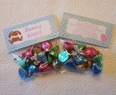bunny treat bags | Printable Easter Bunny Kisses Bag Toppers by PinkPosyPaperie
