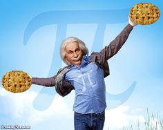 Albert Einstein Celebrating Pi Day
