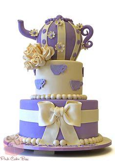 3D Teapot Birthday Cake for Paige Elizabeth's First Birthday! Happy Birthday!