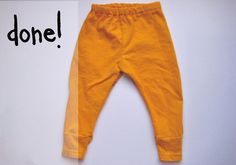 Baby pants from a t-shirt for @Marsha Penner Penner McNeely  pants week day 2: upcycled t-shirts - see kate sew