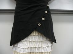 DIY skirt overlay.  Includes a link to the tutorial for the ruffled under-skirt Sneezerville Com, Ruffles Skirts, Skirts Tutorials, Fashion, Style, Clothing, Skirts Overlay, Diy Skirts, Sewing Tutorials