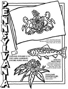 Pennsylvania coloring page