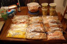 Chicken freezer meals for 50 Cents a plate