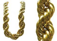 Big gold (not really) chains. And big earrings to go with them.