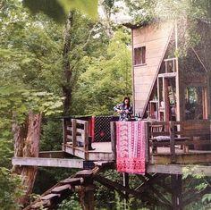 Lulu Organics treehouse.