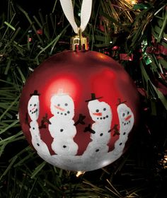 Handprint Ornament Kit comes with all the accessories needed to create a personalized ornament... fun project to do with kids, and it makes a great gift! #holiday