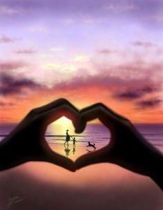 Heart Framed Scenery