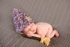 Newborn with Wizard Hat + Broomstick