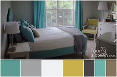 Bedroom redecoration color palette from www.fourandsixteen.com.