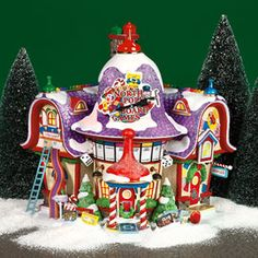 "Department 56: Products - ""North Pole Board Games Factory"" - View Lighted Buildings. Retired. North pole"