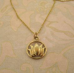 Bronze Lotus necklace/ rise above ashes/ rebirth by MayaBelle, $52.00