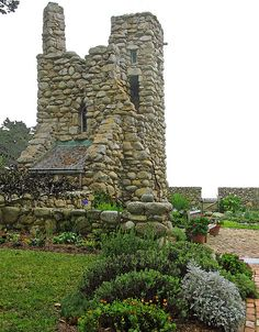 ~Hawk Tower~ built by the famous poet, Robinson Jeffers in 1924 in Carmel, CA as a retreat for his wife & a magical place for their sons.  It sits behind their home he also built called, Tor House