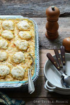 Cheesy Chicken Vegetable Cobbler Recipe
