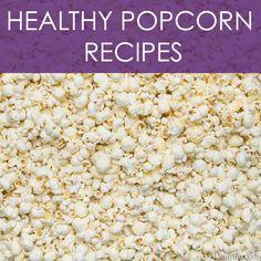 Healthy Popcorn Recipes. Love making homemade popcorn and flavoring it:)). #popcorn #homemadepopcorn