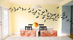 halloween decorations, wall decor, craft, templates, hallways, bats, paper bat, papers, halloween ideas