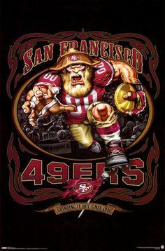 San Francisco 49ers Mascot poster