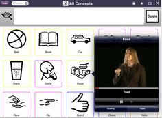 MyChoicePadLite: This taster app turns the iPad into a simple and intuitive communication aid featuring grids of 27 core vocabulary Makaton symbols and signs.These symbols can help children with learning or communication difficulties make requests, initiate conversation and learn new vocabulary. A single press on a cell speaks the text and places the symbol in the speech bar ready to compose a phrase. Press and hold on a cell and you get a pop-up display with a drawing or a video of the signing.