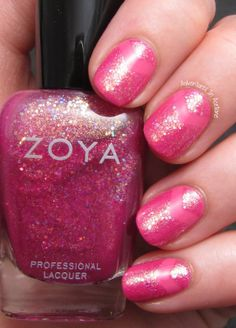 Zoya Tickled and Bubbly Chevron Combo of Rooney and Binx. http://www.zoya.com