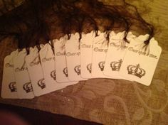 Wedding tags by SimpleSouthernSass on Etsy, $10.95