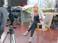 I spent two days at Century Furniture detailing new furniture to be debuted in High Point next month. Here is a sneak peek at the Candice Olson outdoor collection for Century… the Luna lounge chair.