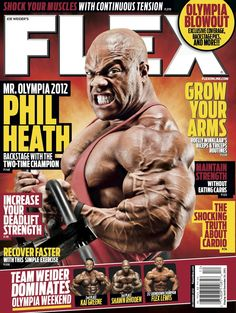 Flex Magazine cover December 2012 featuring Phil Heath #fitness #bodybuilding #exercise