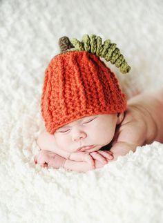 Baby Pumpkin Crochet Hat Beanie